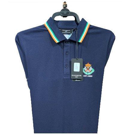 Glenmuir Patriotic shirt - Navy with tri-colour stripe