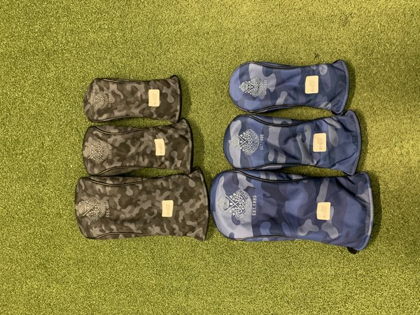 PRG Camouflage Headcovers - Set of 3 for Dr, Fwy and Hy.