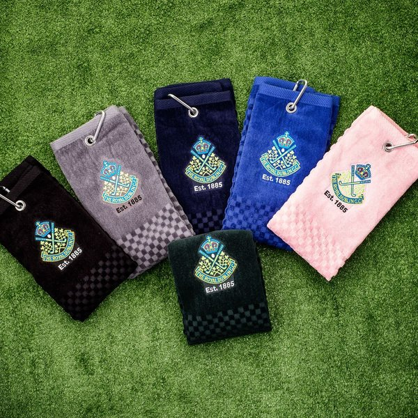 The Royal Dublin Tri-Fold Golf Towel - Multi Buy option, choice of three