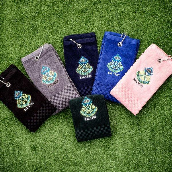 The Royal Dublin Tri-Fold Golf Towel - Multi Buy option, choice of three