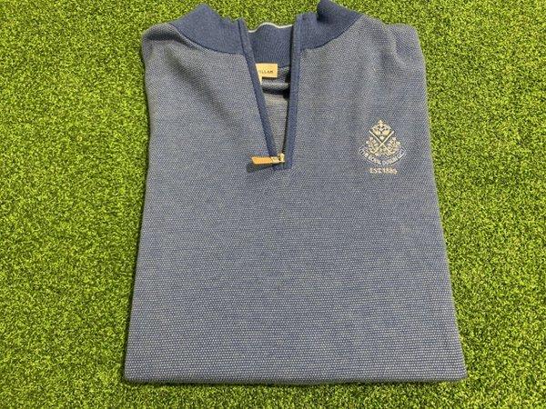 Peter Millar Crownsoft Birdseye Zip Sweater.