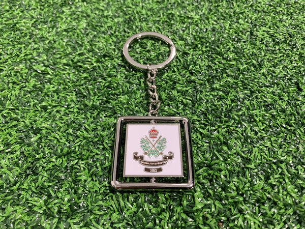 Crested key ring