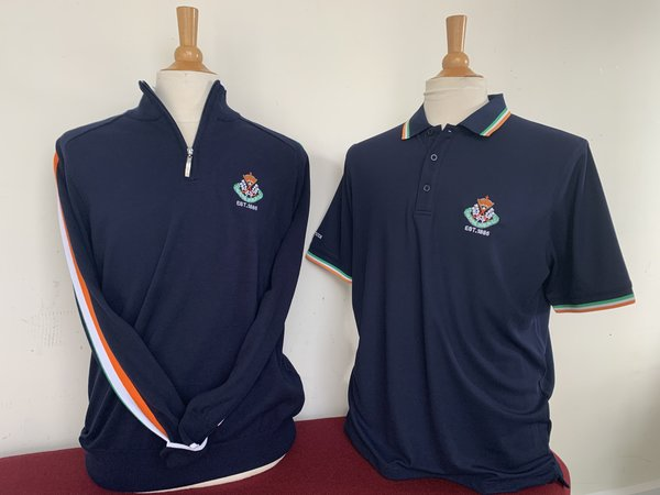 Glenmuir Tri-Colour Combo - Navy with Irish stripe