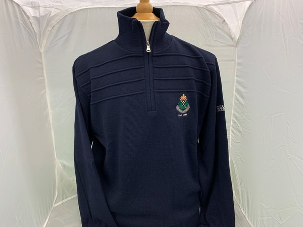 Oscar Jacobson Lined 1/4 Zip Sweater