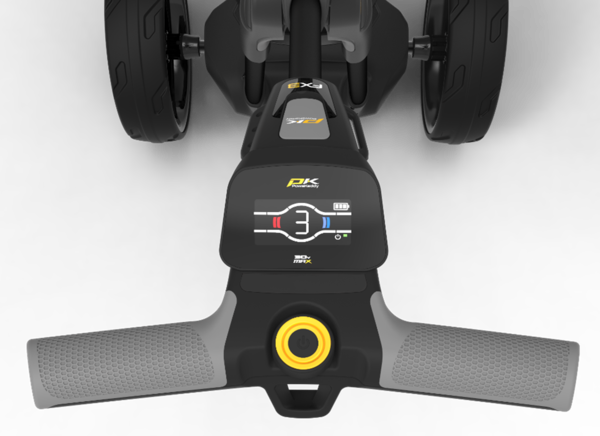 Powakaddy FX3 with lithium battery.