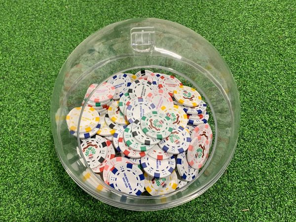 Crested Poker Chip Ball Markers